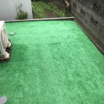 低コストで自宅の庭にDIYで人工芝を引いてみました!その過程を紹介!